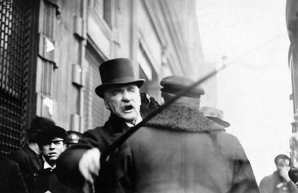 Wall Art - Photograph - J.p. Morgan Attacking A Photographer - 1910 by War Is Hell Store