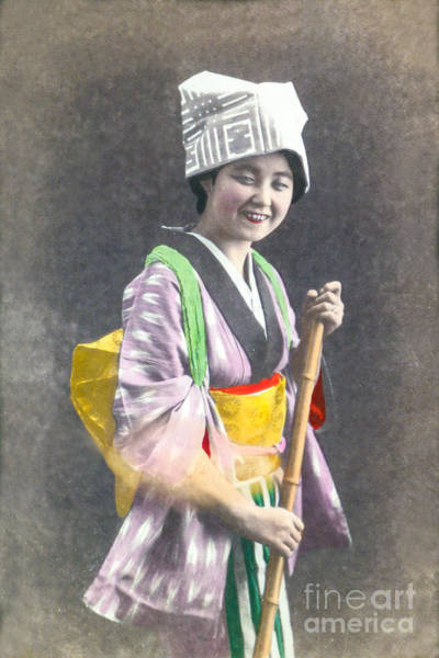 Wall Art - Photograph - Japanese Woman by Delphimages Photo Creations