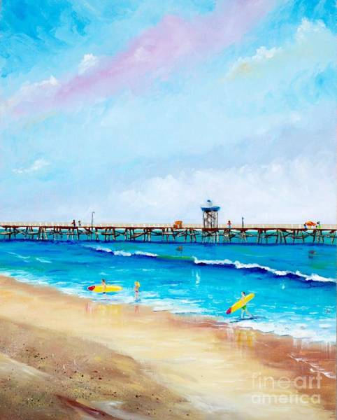 Painting - Jr. Lifeguards by Mary Scott