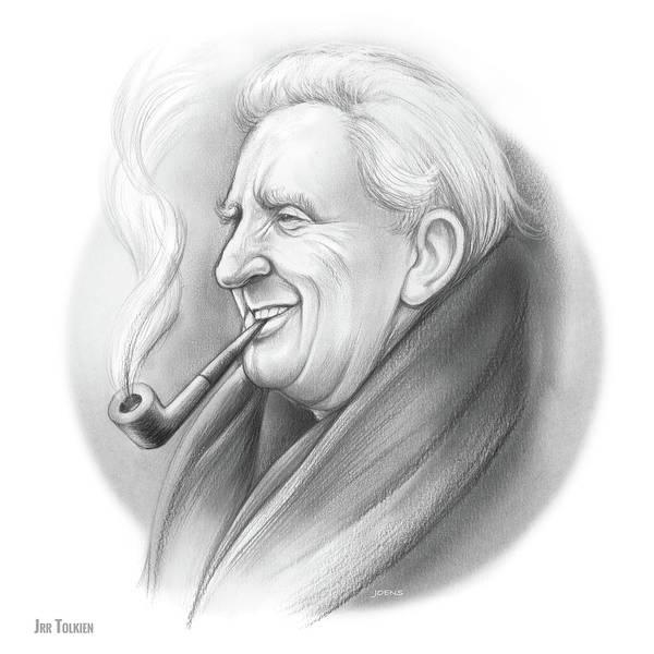 Wall Art - Drawing - Jrr Tolkien by Greg Joens