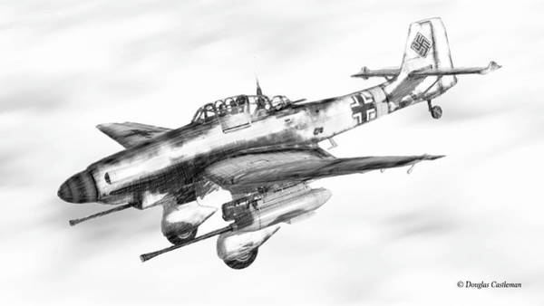 Digital Art - Ju-87g by Douglas Castleman