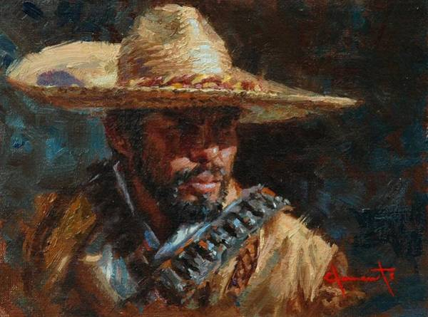 Sombrero Painting - Juan by Jim Clements