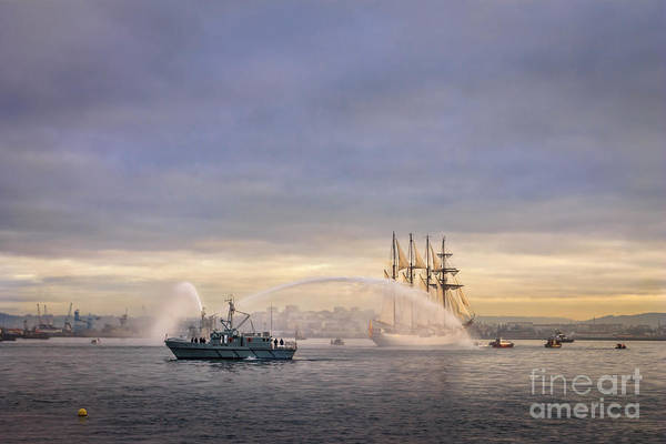 Photograph - Juan Sebastian Elcano Arriving To The Port Of Ferrol by Pablo Avanzini