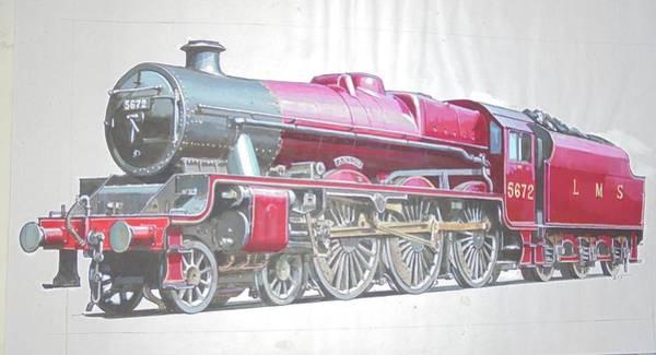 0 Wall Art - Drawing - Jubilee 4-6-0  by Mike Jeffries