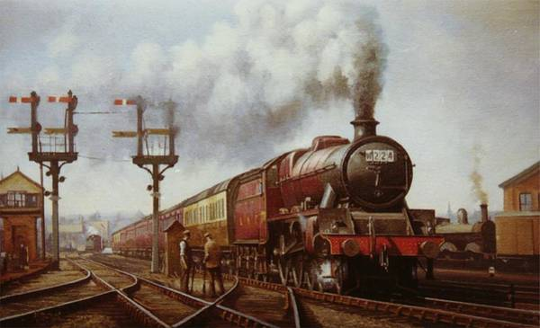 Railway Painting - Jubilee At Edge Hill. by Mike Jeffries