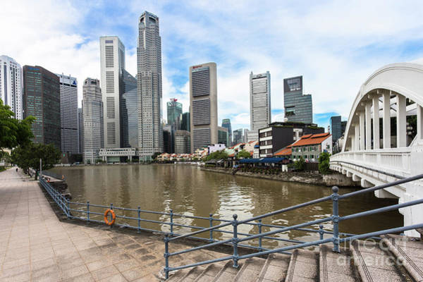 Photograph - Jubillee Walk Along The River In Singapore by Didier Marti