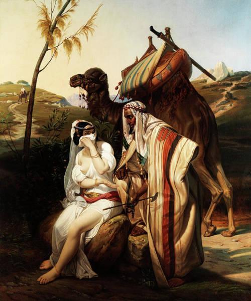 Pregnancy Painting - Judah And Tamar by Emile Jean Horace Vernet
