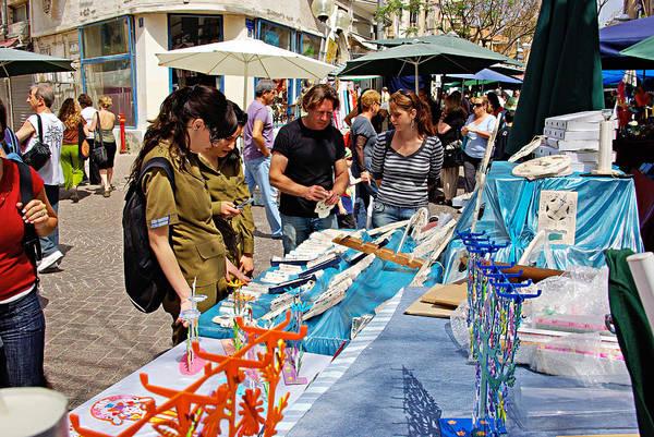 Wall Art - Photograph - Judaica Artist At Art Fair In Tel Aviv by Zal Latzkovich