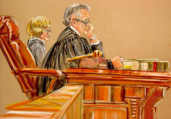 Judge And Witness Art Print