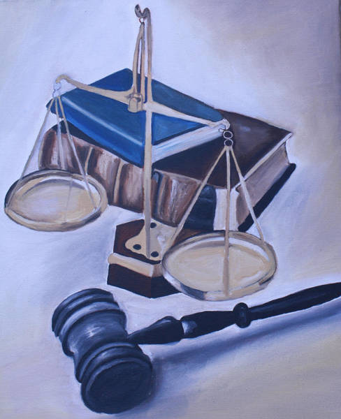 Wall Art - Painting - Judge Scales by Mikayla Ziegler