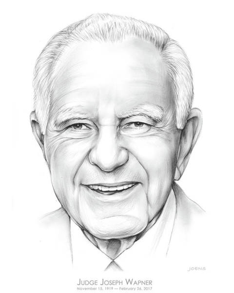 Television Drawing - Judge Wapner by Greg Joens