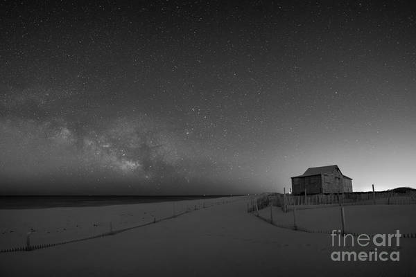 Mv Photograph - Judges Shack At Island Beach State Park  Bw by Michael Ver Sprill