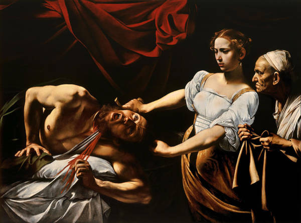 Wall Art - Painting - Judith And Holofernes by Caravaggio