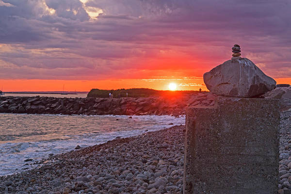 Photograph - Judith Point Rock Cairn Narragansett Rhode Island Ri by Toby McGuire