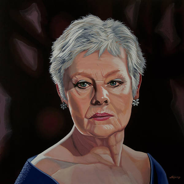 Wall Art - Painting - Judi Dench Painting by Paul Meijering