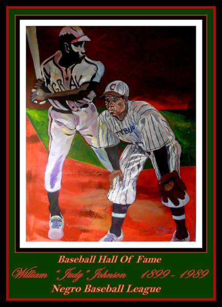 Hitter Painting - Judy Johnson Negro League.  Great Third Baseman by Keith OBrien Simms
