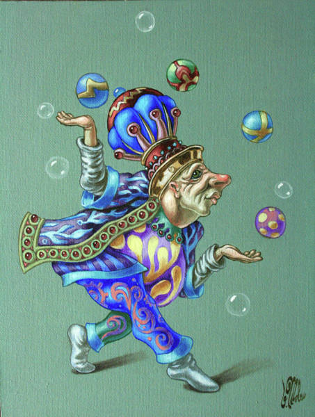 Painting - Juggler by Victor Molev