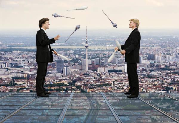 Andreas Photograph - Juggling Berlin by Andreas Feldtkeller
