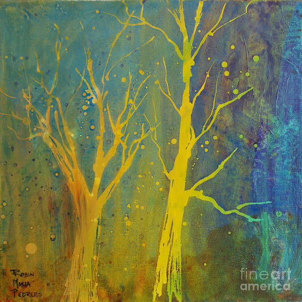 Painting - Juggling Trees  by Robin Maria Pedrero