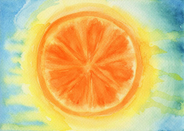 Ingredient Painting - Juicy Orange by Kathleen Wong
