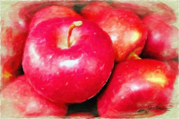 Painting - Juicy Red Apples by Joan Reese