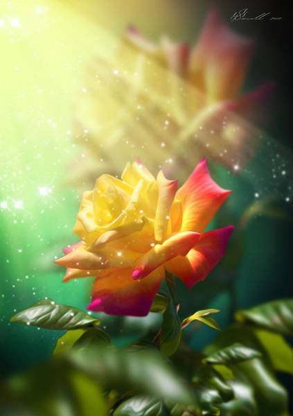 Blooms Digital Art - Juicy Rose by Svetlana Sewell