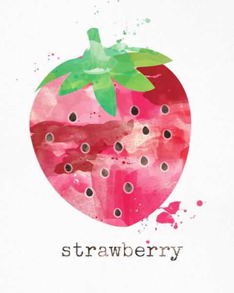 Wall Art - Painting - Juicy Strawberry by Linda Woods
