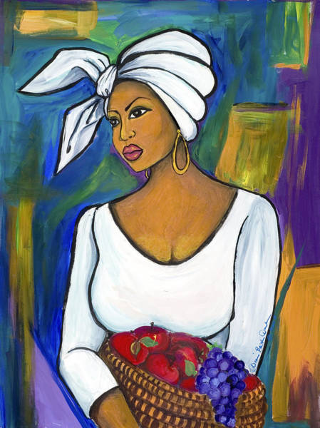 African American Woman Wall Art - Painting - Juju by Diane Britton Dunham