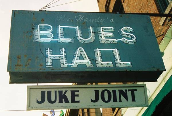 Light Blue Photograph - Juke Joint by Jame Hayes