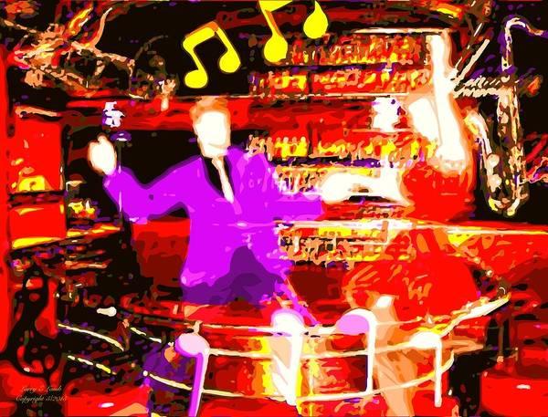 Musical Theme Painting - Juke Joint Saturday Night by Larry E Lamb