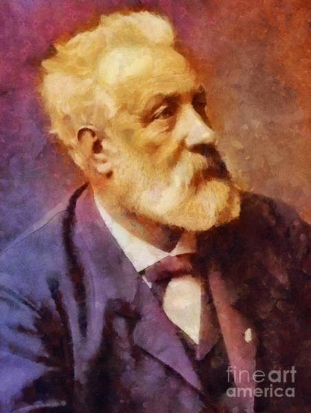 Poetry Painting - Jules Verne, Literary Legend by Sarah Kirk