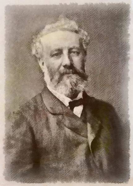 Jules Verne Wall Art - Painting - Jules Verne Author by John Springfield