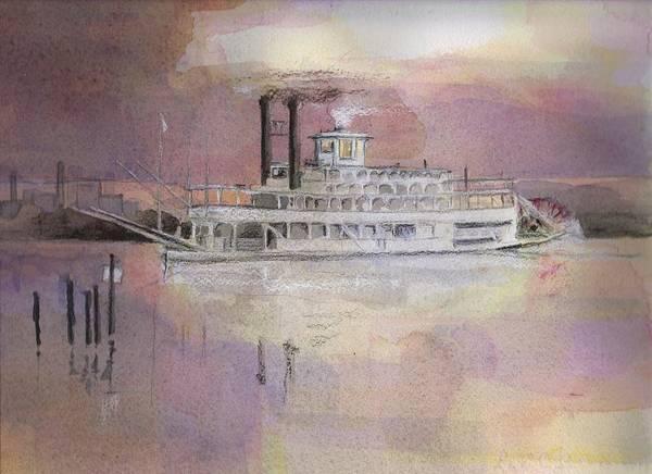 Riverboat Painting - Julia Belle Swain by Robert Yonke