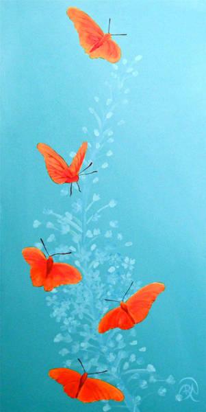 Snapdragons Painting - Julia Butterfly On Tiel by Renee Noel