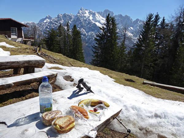 Photograph - Julian Alps Picnic by Phil Banks