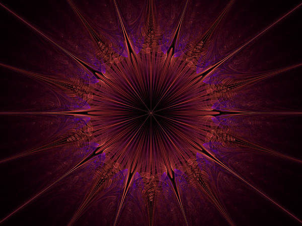 Digital Art - The Violet Blessings Of The Crown Chakra by Ernst Dittmar