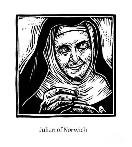 Painting - Julian Of Norwich - Jljun by Julie Lonneman