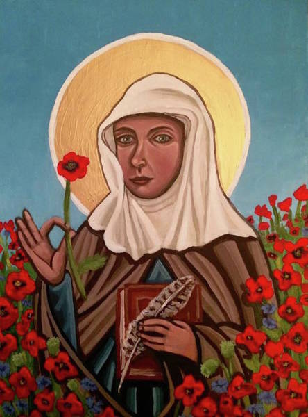 Painting - Julian Of Norwich  by Kelly Latimore