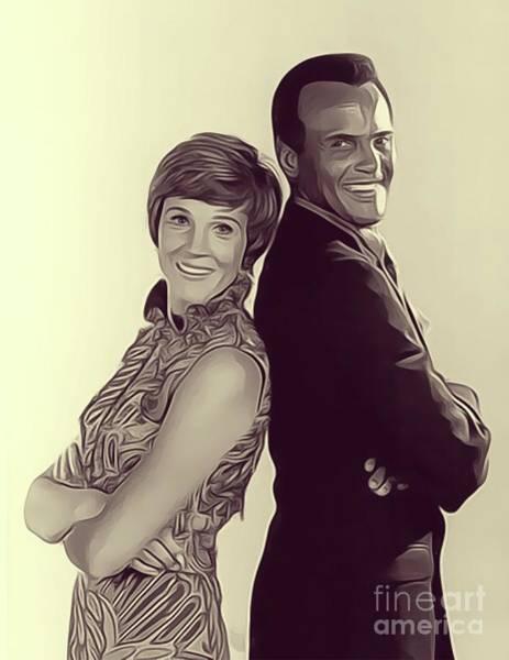 Wall Art - Digital Art - Julie Andrews And Harry Belafonte by John Springfield