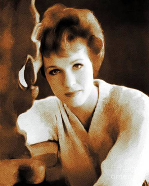 Pinewood Painting - Julie Andrews, Movie Legend by Mary Bassett