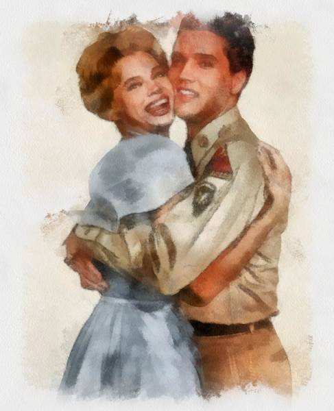 Juliet Wall Art - Painting - Juliet Prowse And Elvis Presley In G.i. Blues by Esoterica Art Agency