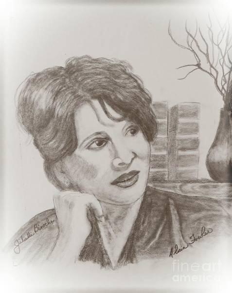 Drawing - Juliette Binoche by Alicia Fowler