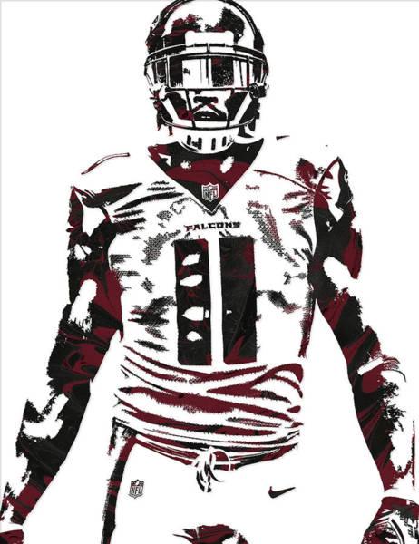 Atlanta Falcons Mixed Media - Julio Jones Atlanta Falcons Pixel Art 5 by Joe Hamilton