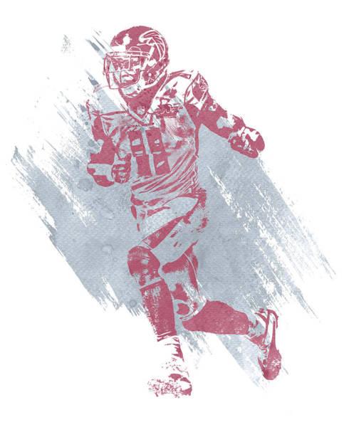 Atlanta Falcons Mixed Media - Julio Jones Atlanta Falcons Water Color Art 3 by Joe Hamilton