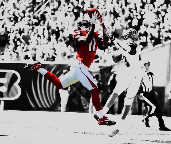 Atlanta Falcons Mixed Media - Julio Jones Catching The Rock by Brian Reaves