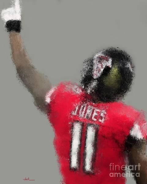 Julio Jones Wall Art - Painting - Julio Jones by Jack Bunds