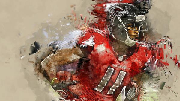 Atlanta Falcons Mixed Media - Julio Jones by Marvin Blaine