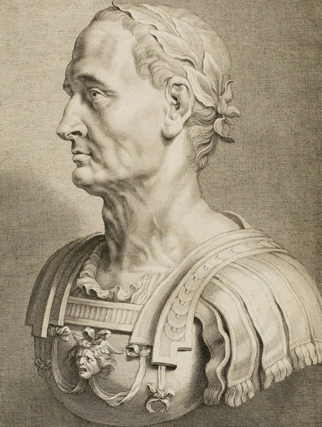 Cesar Wall Art - Drawing - Julius Caesar by Boetius Adams Bolswert