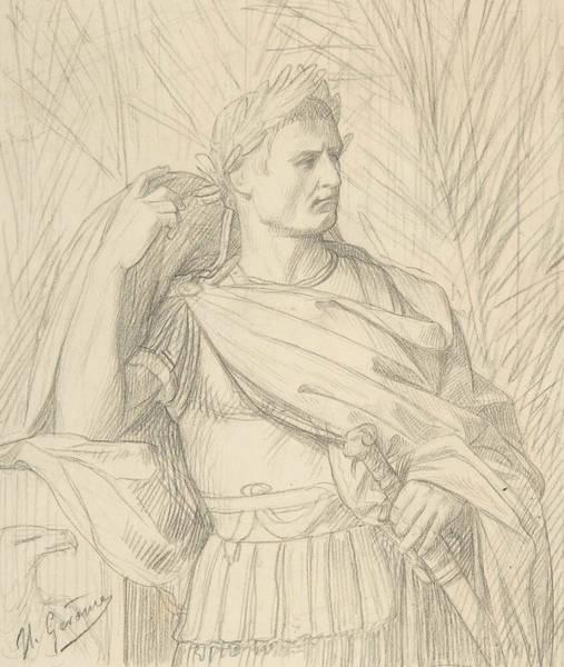 Jeans Drawing - Julius Caesar by Jean-Leon Gerome