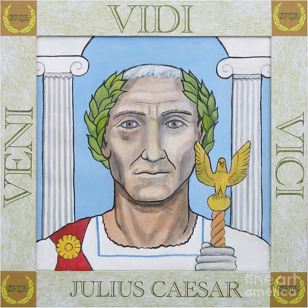 Helm Painting - Julius Caesar by Paul Helm
